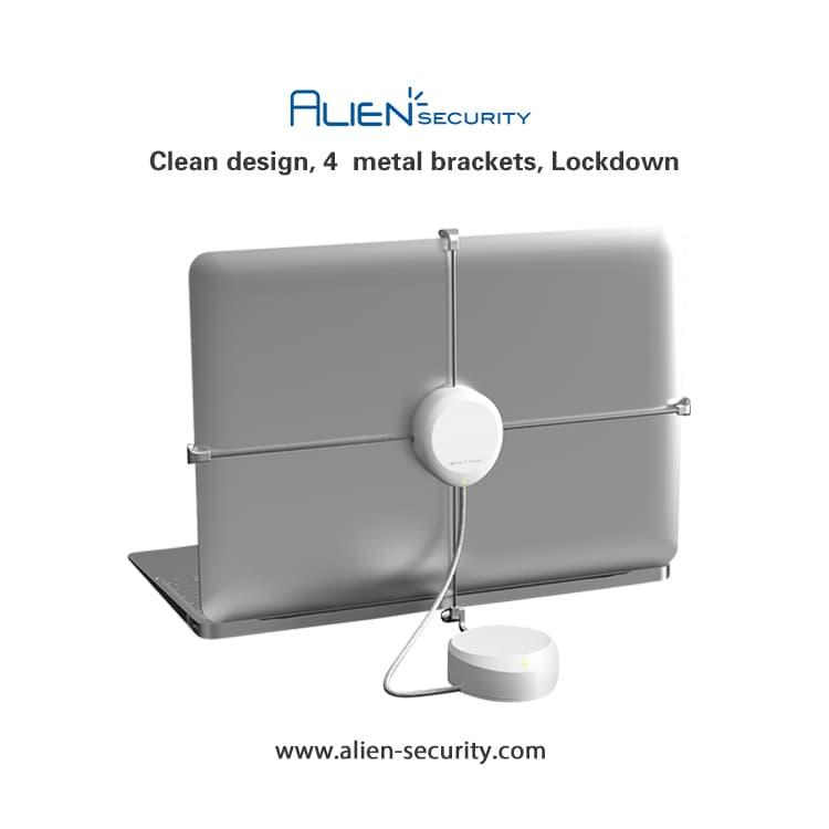 Laptop anti theft security display alarm mount lock down